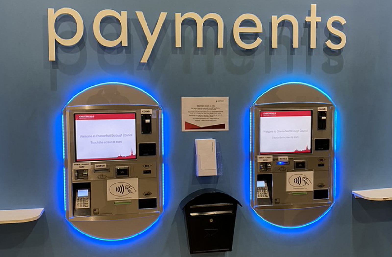 Chesterfield Borough Council Payment Kiosks